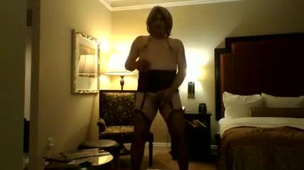 Alone in hotel Lycra lesbian dildoing in threeway