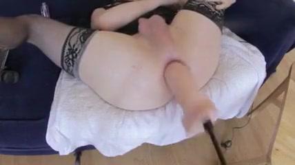 Anal Machine Dildo 2 Naked tan boobs