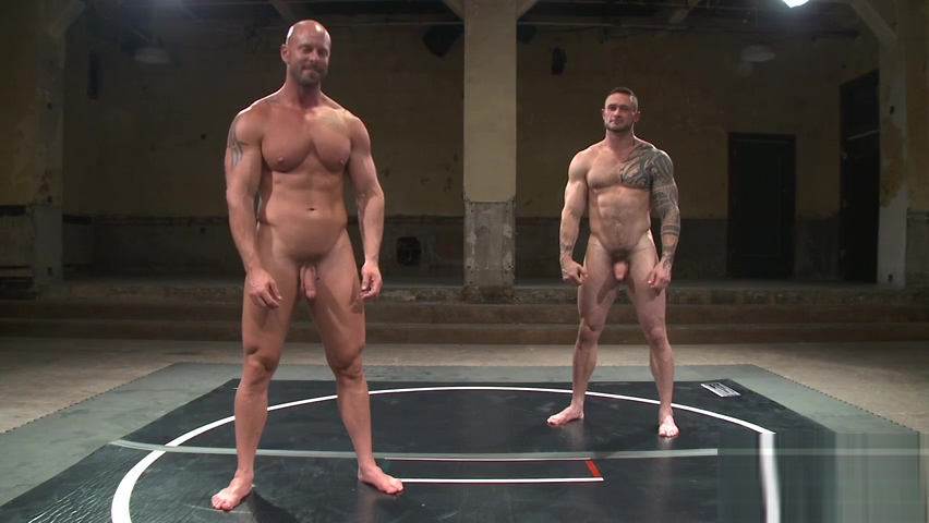 Tattooed wrestling hunk gets oiledup Safety gates for adults