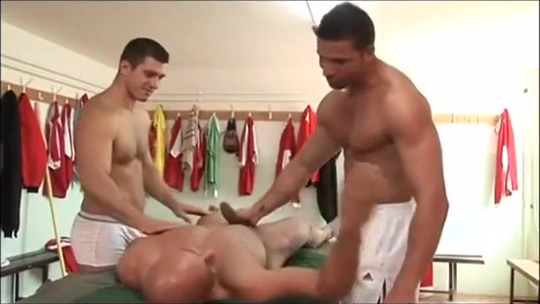 Randy Jones, Rob Nelson and Julian Vincenzo Ass fucking suction cup dildo
