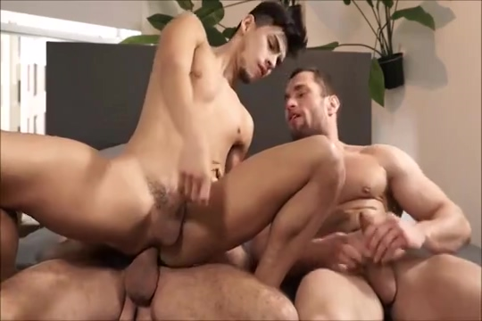 Twink Enjoys Bareback with 2 Daddies www com vidio xxx