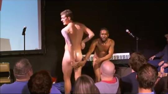 nude comedy show Girl natural boobs gif