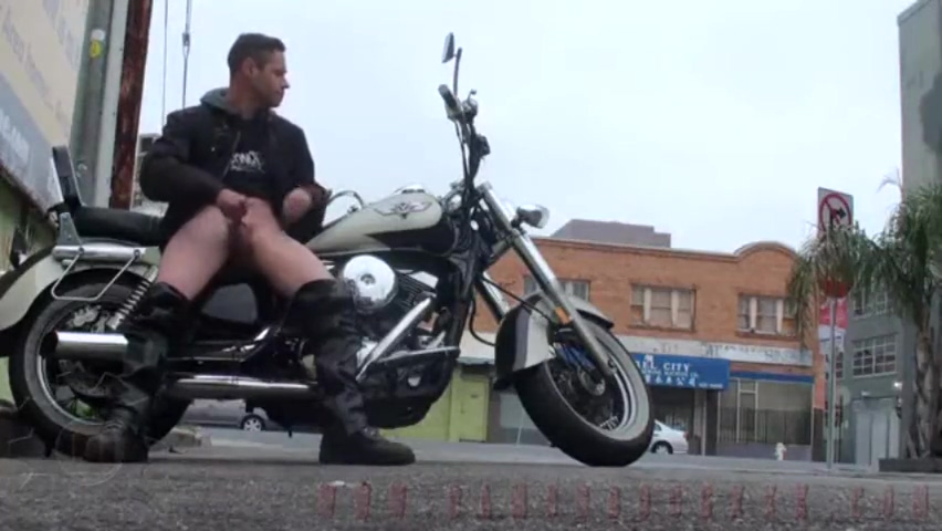 The biker watching dick massive lawless strapon in