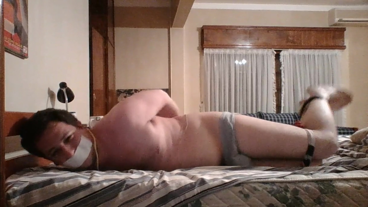 Martin bound and gagged in bed Horny slut gets fucked on table