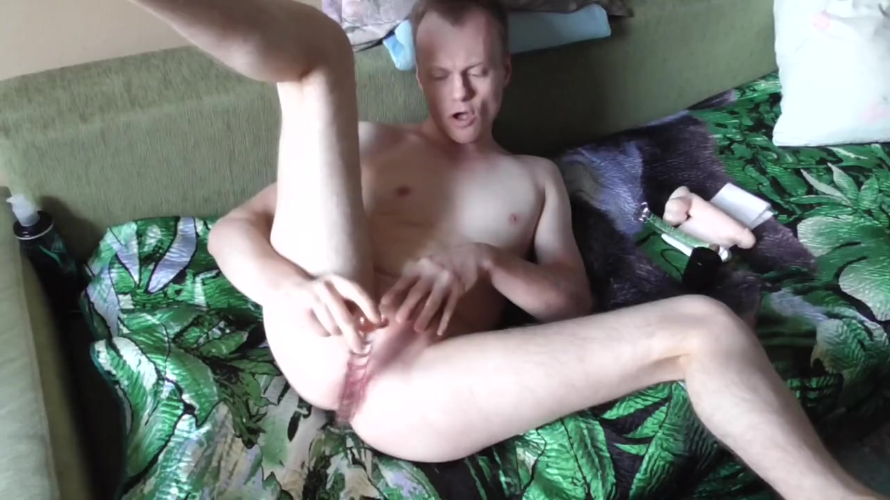 LanaTuls - Self-fucked by good 3x different dildos. Gay assplay in solo. Female asshole close up pictures