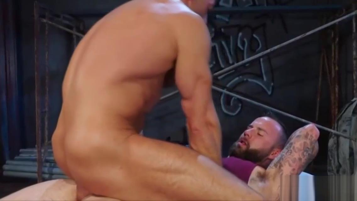 Two beefy gays having a hardcore adventure Blowjob loving tattooed and pierced gf Mina