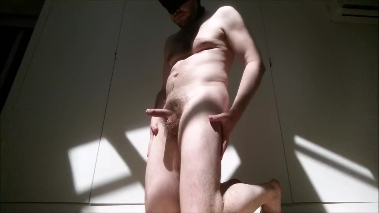 Sexy hairy daddy full striptease ends with precum - straight guy Full Monty fabulous classic star in vintage porn clip 7