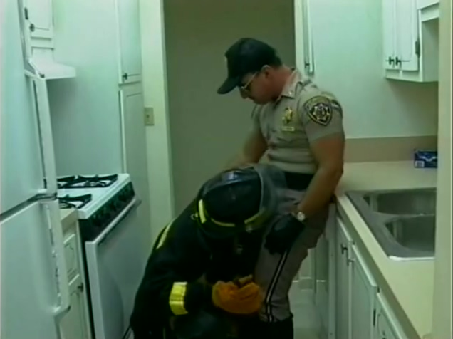 Firefighter and cop get hot - Iron Horse nina hartley fucks fan