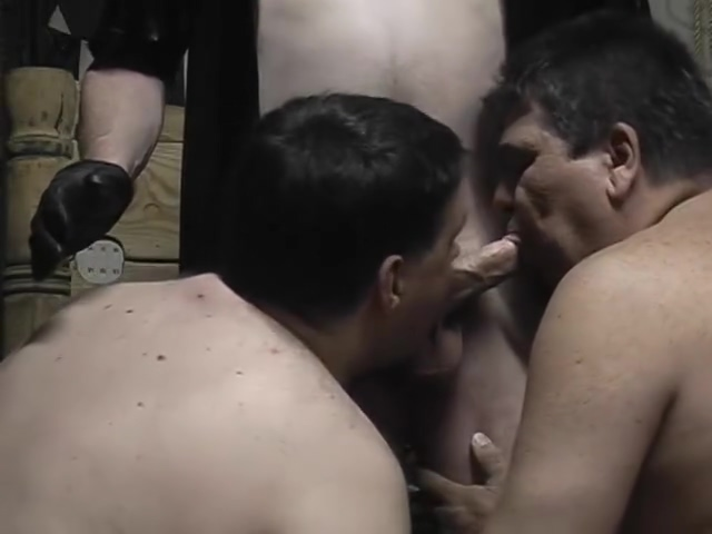 Two bound guys suckings some cock - Pig Daddy Productions condom gifs