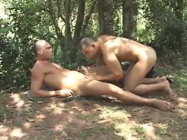 Bareback ride in the forest for these two latinos - Bareback Men Girl Creampied By Shemale