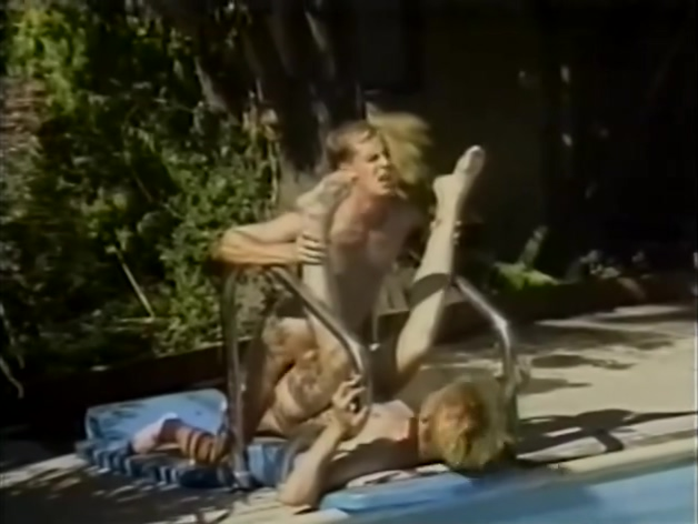 Wild poolside fun - Puppy Productions Best 1980s tits