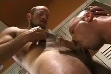 Muscle bear locker room Dick ebony fucking white