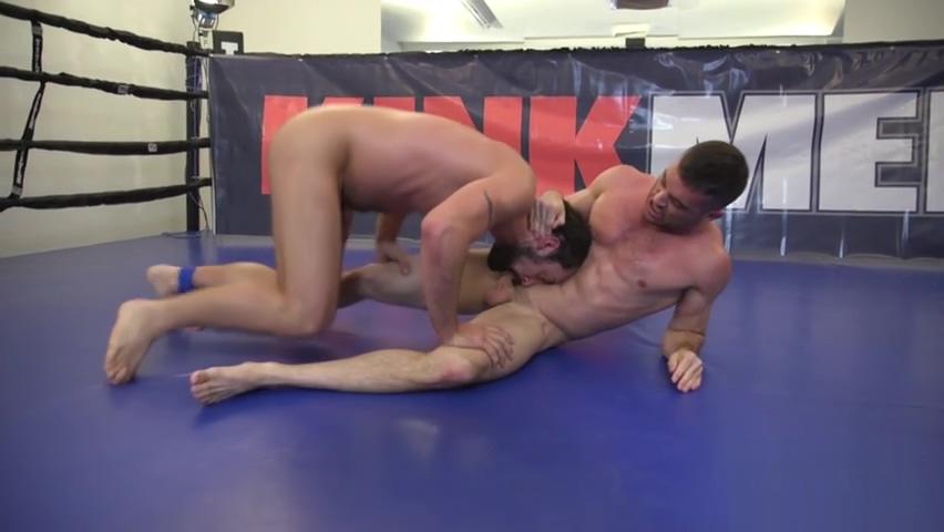 Rimmed wrestler pinned down and grappled butt naked girls playing baseball