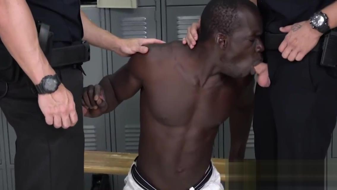 Dangerous bike rider is taken to locker room by horny gay officers Vixen kenna james