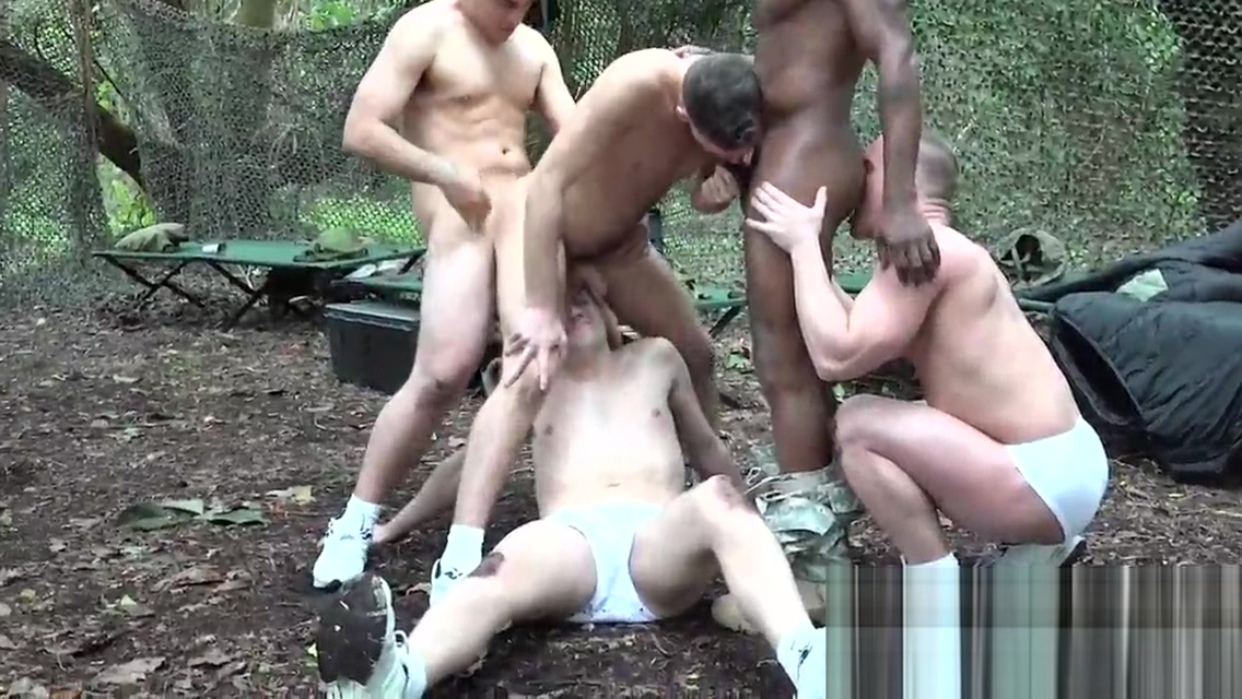 Gay troopers go train in the woods for gangbanging in public Best panty ass wife