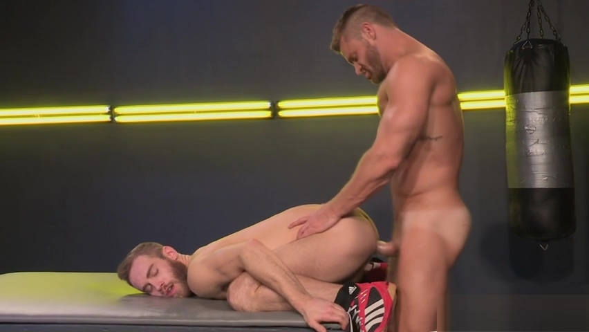 Fight with Your Dick! Landon Conrads Pole sinks into Shawn Wolfes Ass Gorgeous college slut fucked