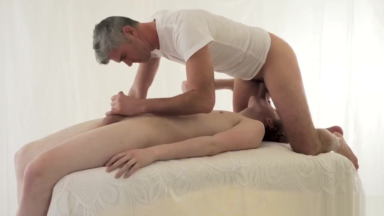 Handsome Daddy shoots deep inside an angelic young twink Black pussy over 60