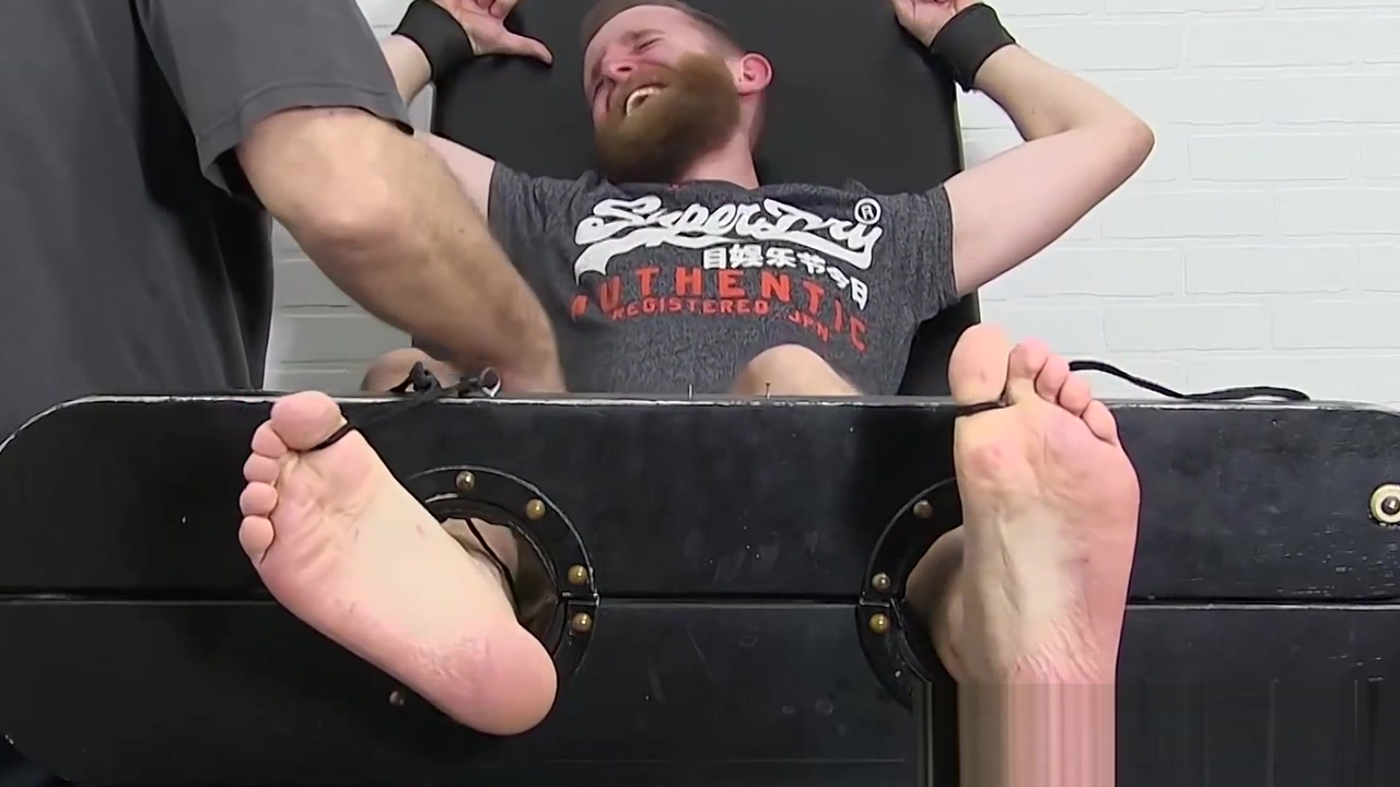 Blindfolded bearded slave tickle tormented by mature dom High school public