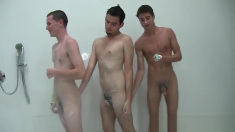 Gay college gangbang in shower with hot freshers Open hairy pussy
