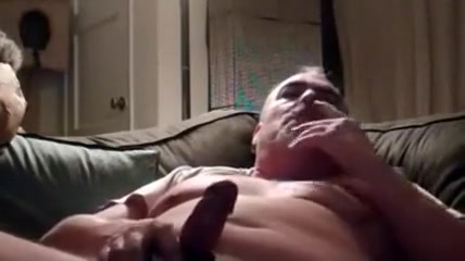man Smokes and Strokes Ass busty chick
