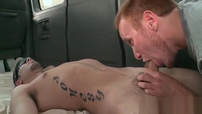 Tattooed guy takes his first gay blowjob the hex girls porn