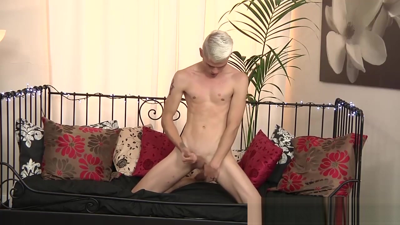 Charming blonde dude pleasures himself Cfnm public humiliation