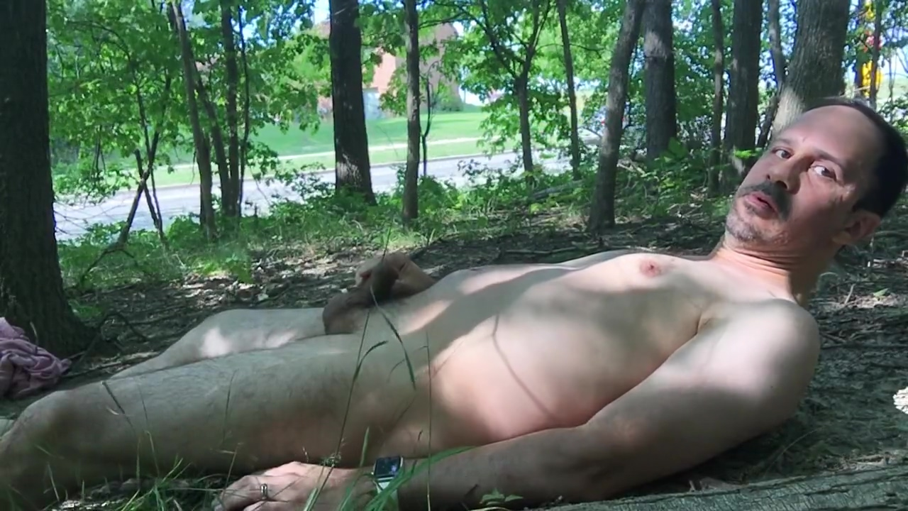 pupbalto naked close to a road, eating like a dog a pissing himself hairy wet pussy porn