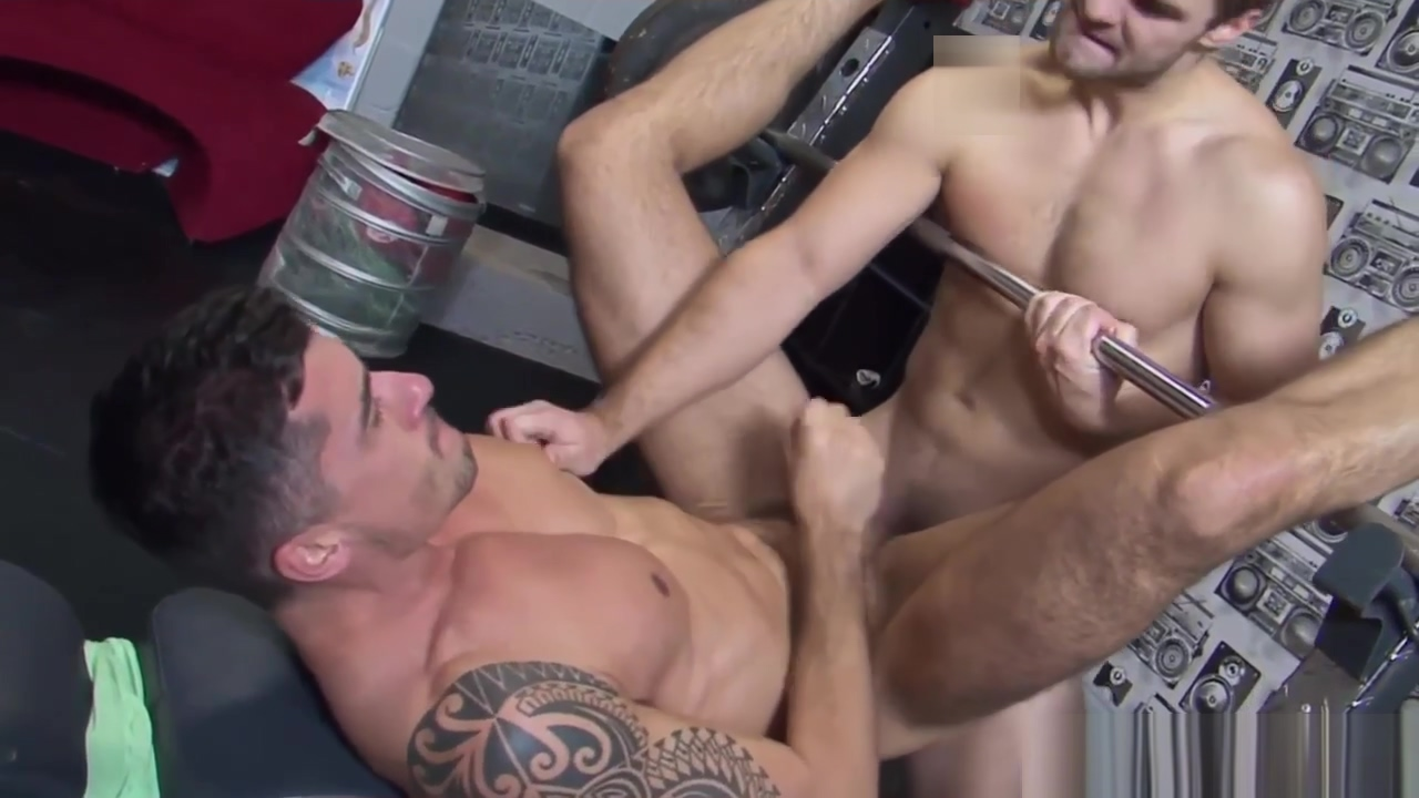 English jocks assfucking during workout Amazing Blonde Brunette sex movie