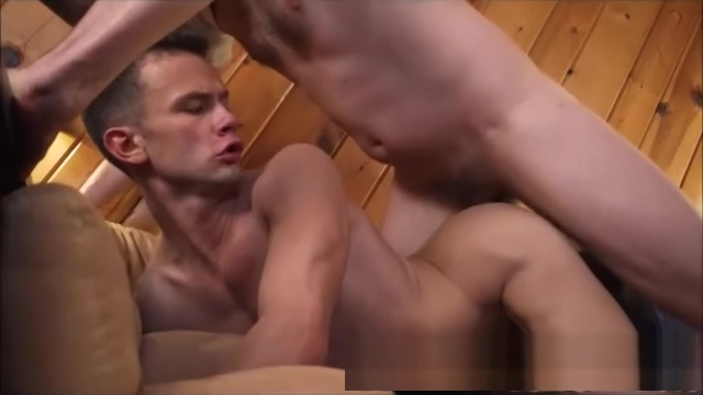 BIgger Hung Guy bareback Fucks a smaller stud on the couch Redlight gangbang 6