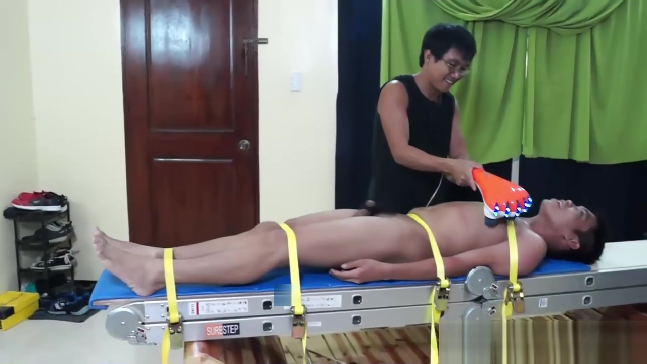 Gay Asian Twink Lorenzo Tied Down and Tickled Women body and sex