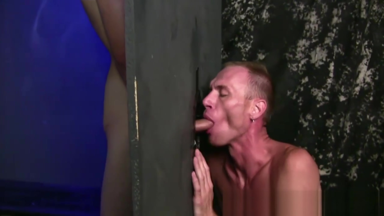 Two horny fetish dudes love to use gloryhole in a toilet Lesbo abused