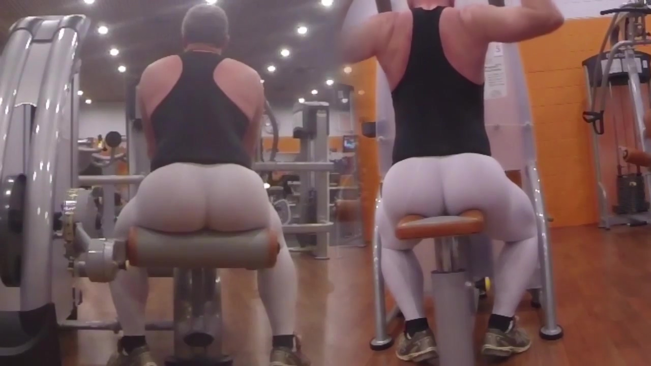 Working out in white spandex Lauren the hills bikini
