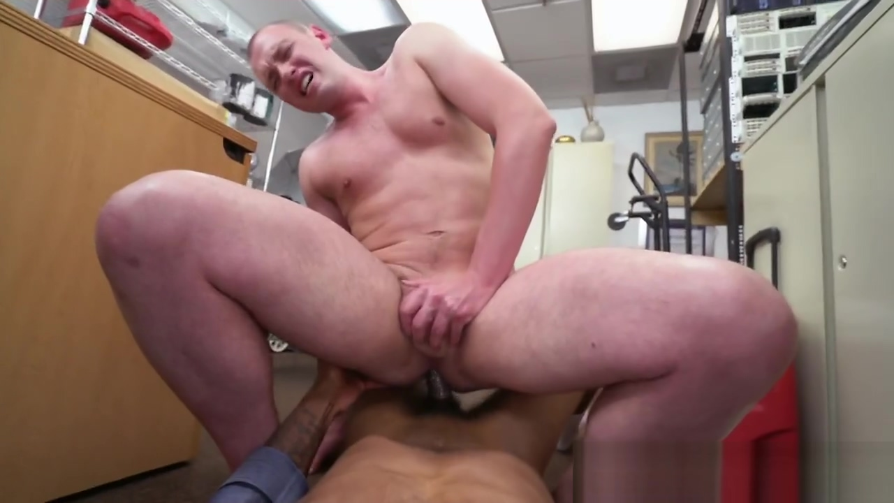 Big black cock for white guy asshole in office How to sperm in pussy