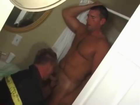 Horny fireman sucks on cock Sexy tongue sucking