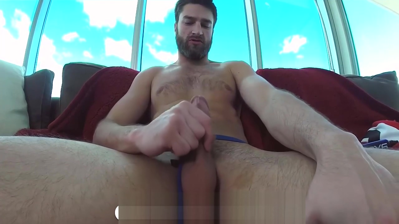 Abel Archer POV with a Fleshjack and Dildo Pale brunette femdom