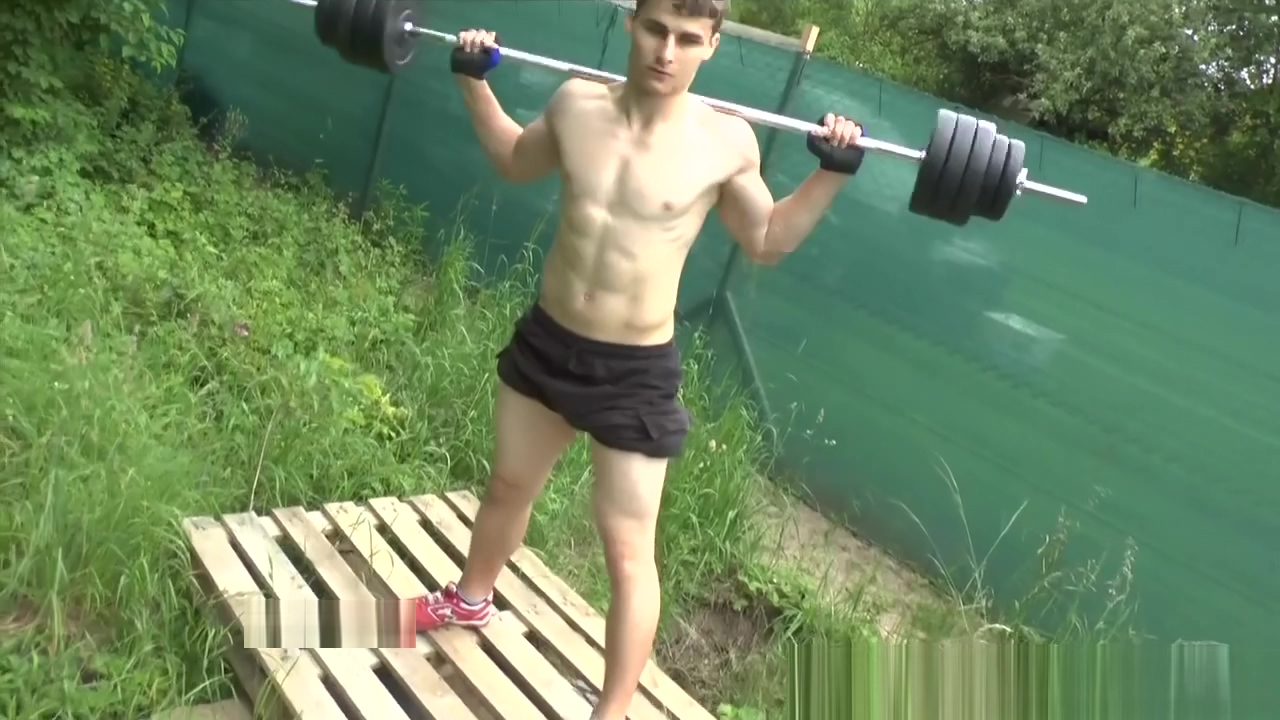 Muscle Boy - Outdoor Workout and Shower sexy asian blonde porn