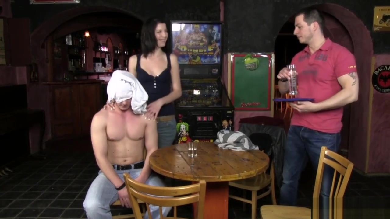 First gay blowjob and sex in the bar bareass college boy strip
