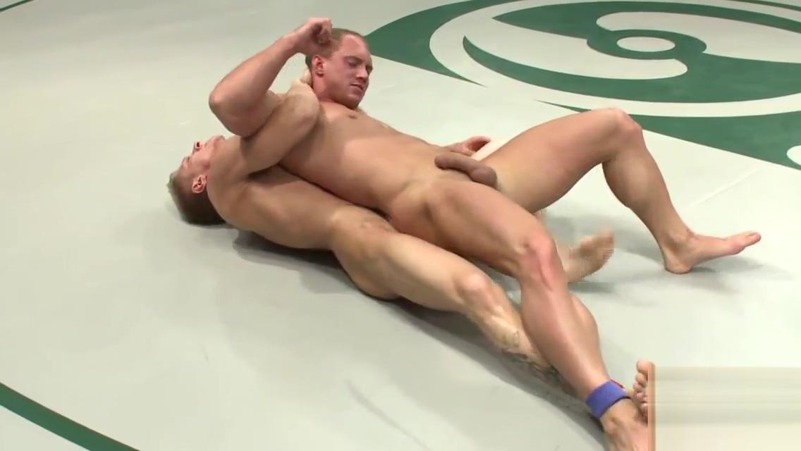 Ripped wrestler humiliates his opponent Bikini bridge nude