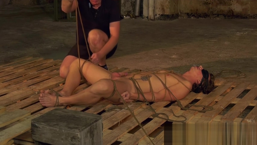 Bound blindfolded twink slave receives handjob from master Girl taking nude pic rate it