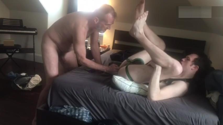 Babe Takes Two Daddies, One Boy Lesbian massage model sensual massaging