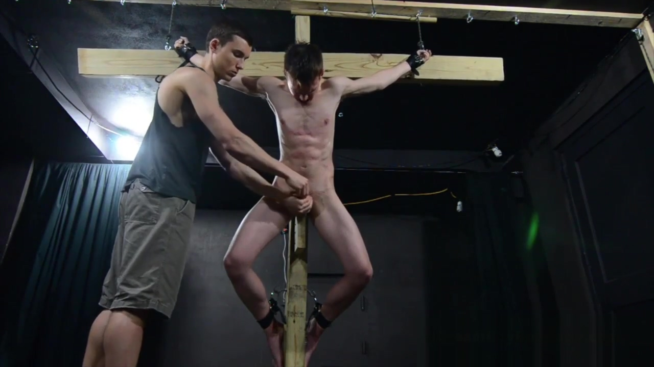 Crucified Twink Fucks Himself With Dildo - BDSM Gay Bondage scene 2 fosters imaginary friends porn