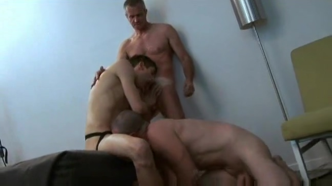 Daddies double team twink Huge tits bouncing up and down