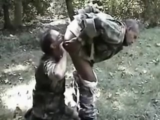 Old Gay Soldiers in the Forest Xxx Silver