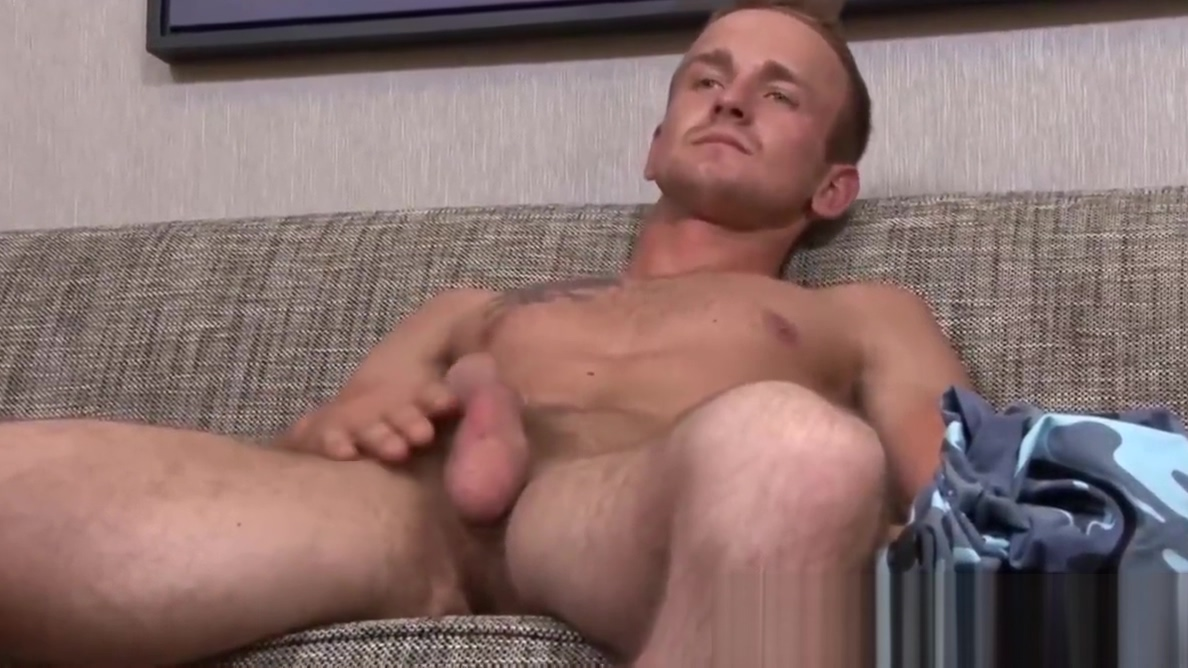 Athletic soldier Kevin Reed strokes his huge cock Free movie monste cock fuck small pussy