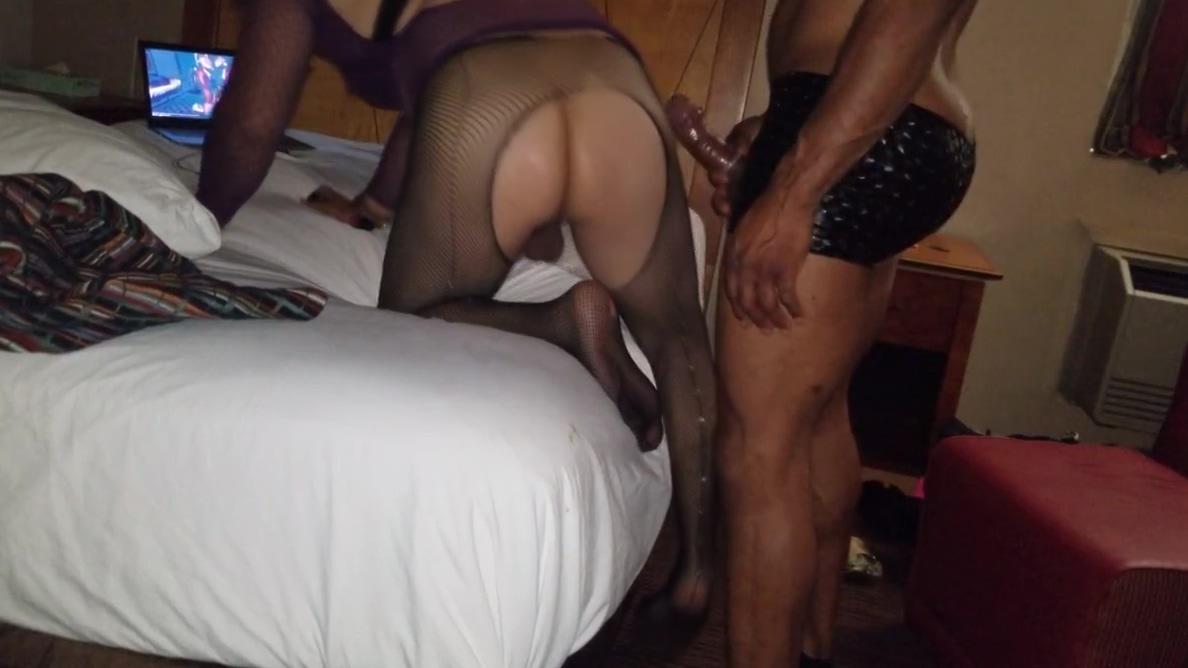 Fast fucking My Latina Crossdresser lover Big dick black shemale