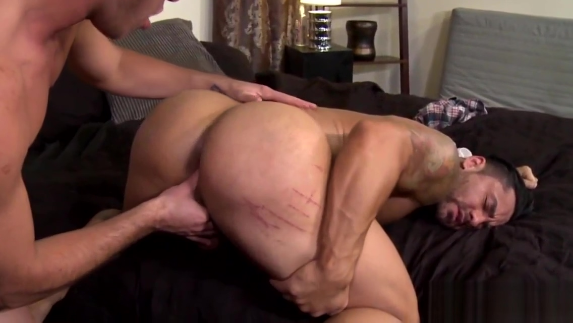 Buff hunks ass licked and fucked Eiden huge tits
