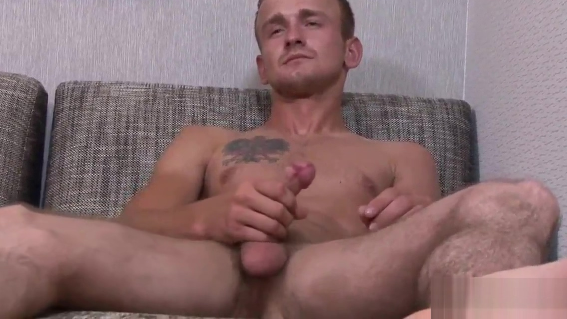 Straight soldier in solo kiss after prostate massage and blowjob