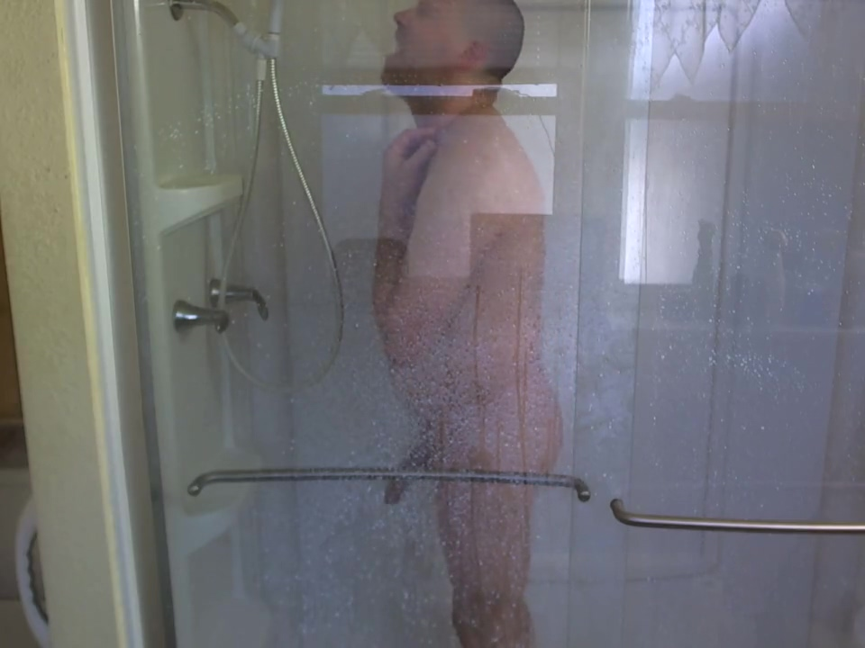 Taking a shower hot white gay boys