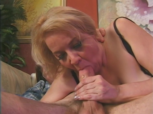 Hot mature sucks and fucks a big cock lesbian in super glue