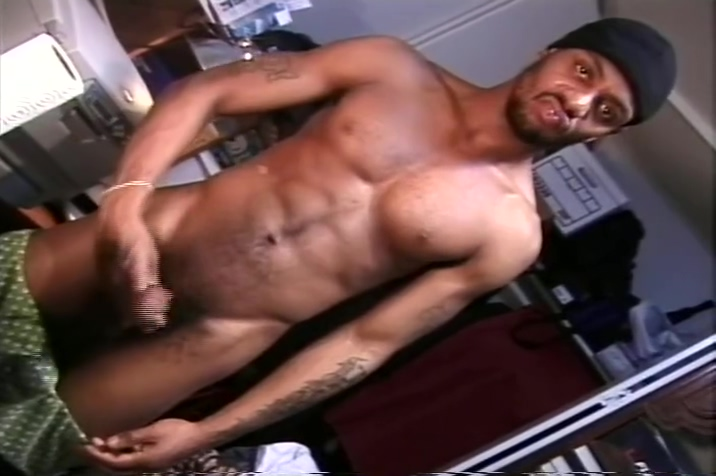 Tasty looking black dick jacked off Porn bloppers quick cums